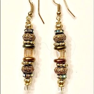 Dangle Stacked Earrings!  Beautiful v/ Crystals
